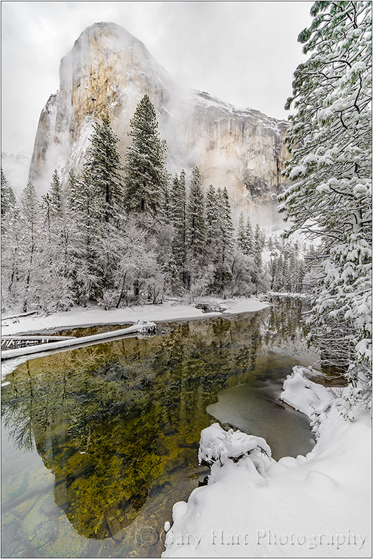 Snowstorm Reflection, El Capitan, Yosemite