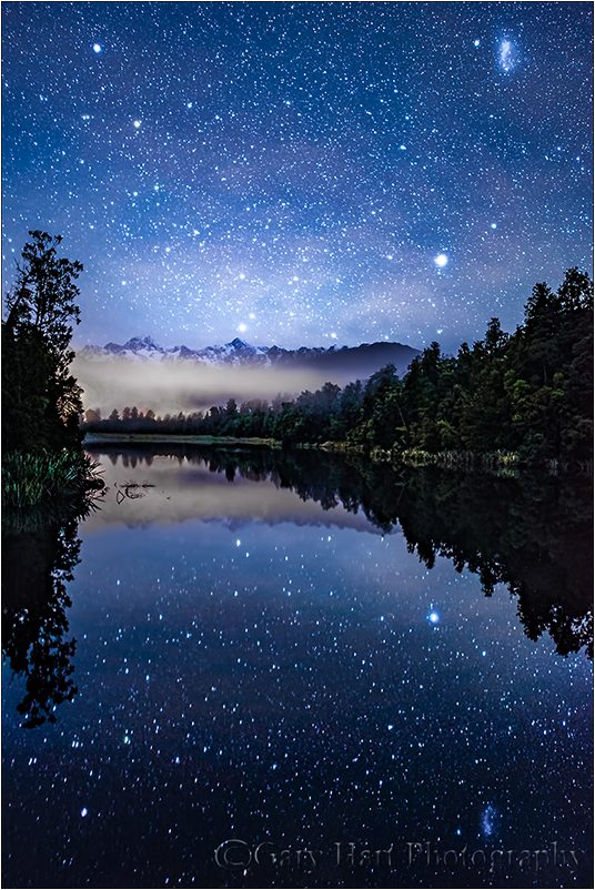 Dark Sky, Lake Matheson, New Zealand