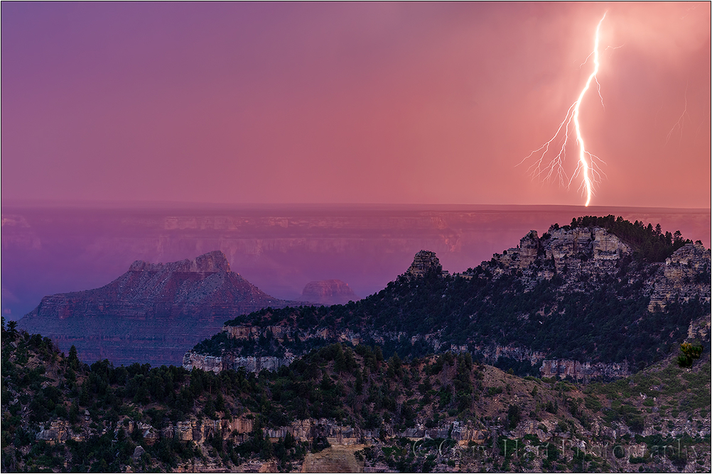 Sunset Lightning, Grand Canyon