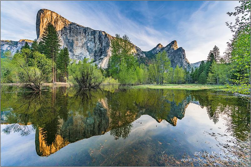 Spring Reflection, El Capitan, Yosemite