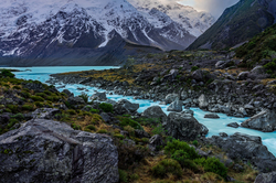 Glacial Flow, Hooker River, New Zealand