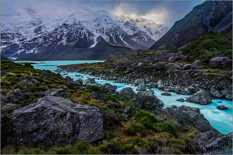 Glacial Flow, Hooker River, New Zealand