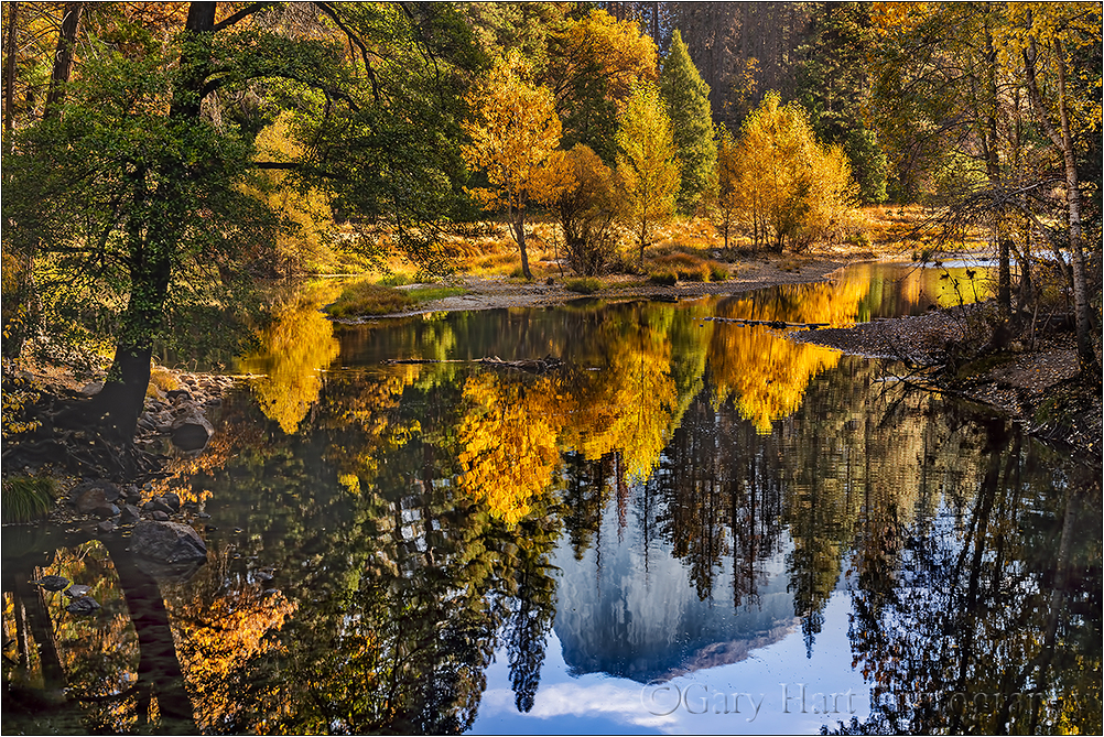 Half Dome Autumn Reflection, Yosemite