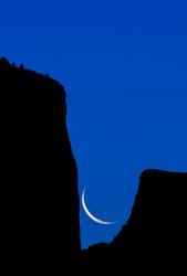 Yosemite Silhouette, El Capitan and Half Dome