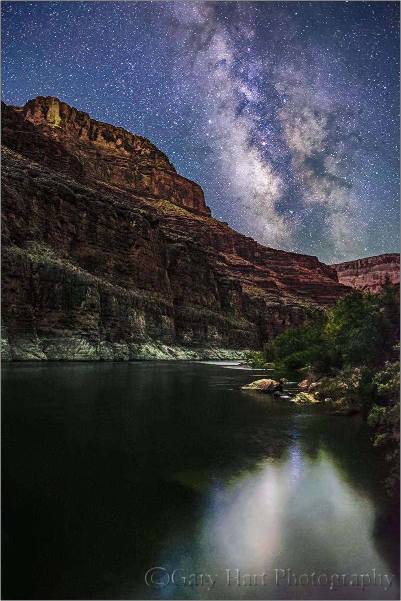 Milky Way Reflection, Colorado River, Grand Canyon
