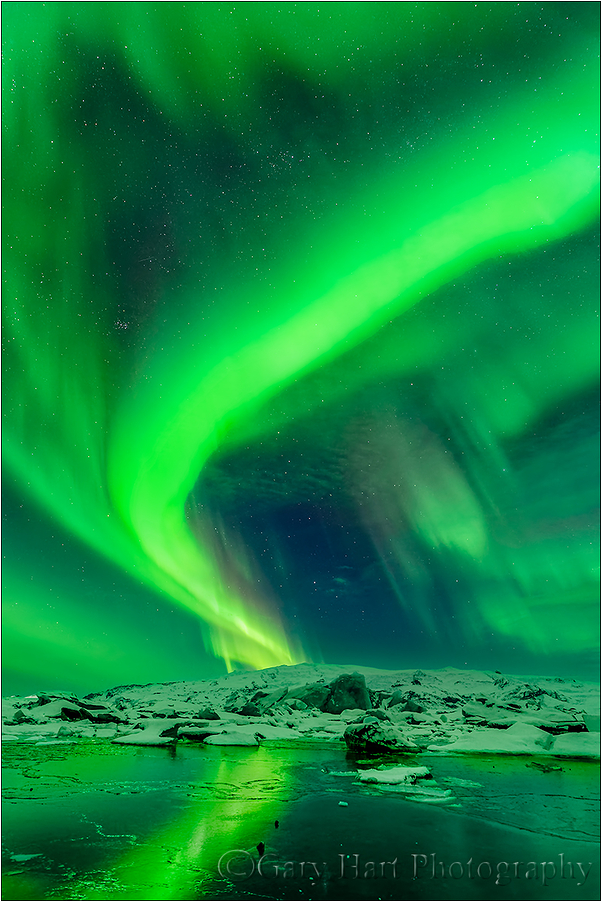 Green Twist, Glacier Lagoon, Iceland