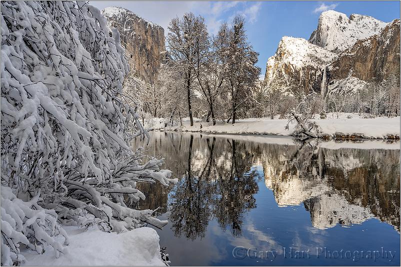 Snow and Reflection, El Capitan, Yosemite