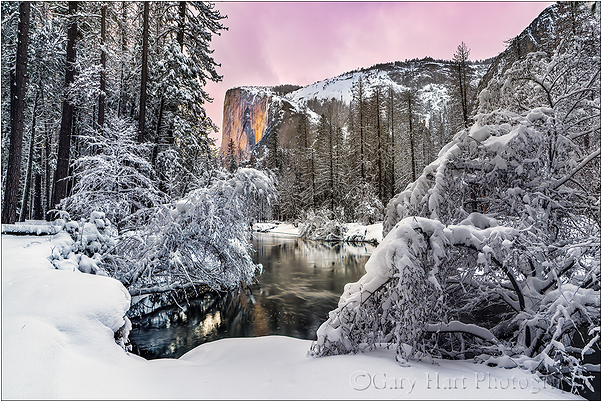 Winter Glow, El Capitan, Yosemite