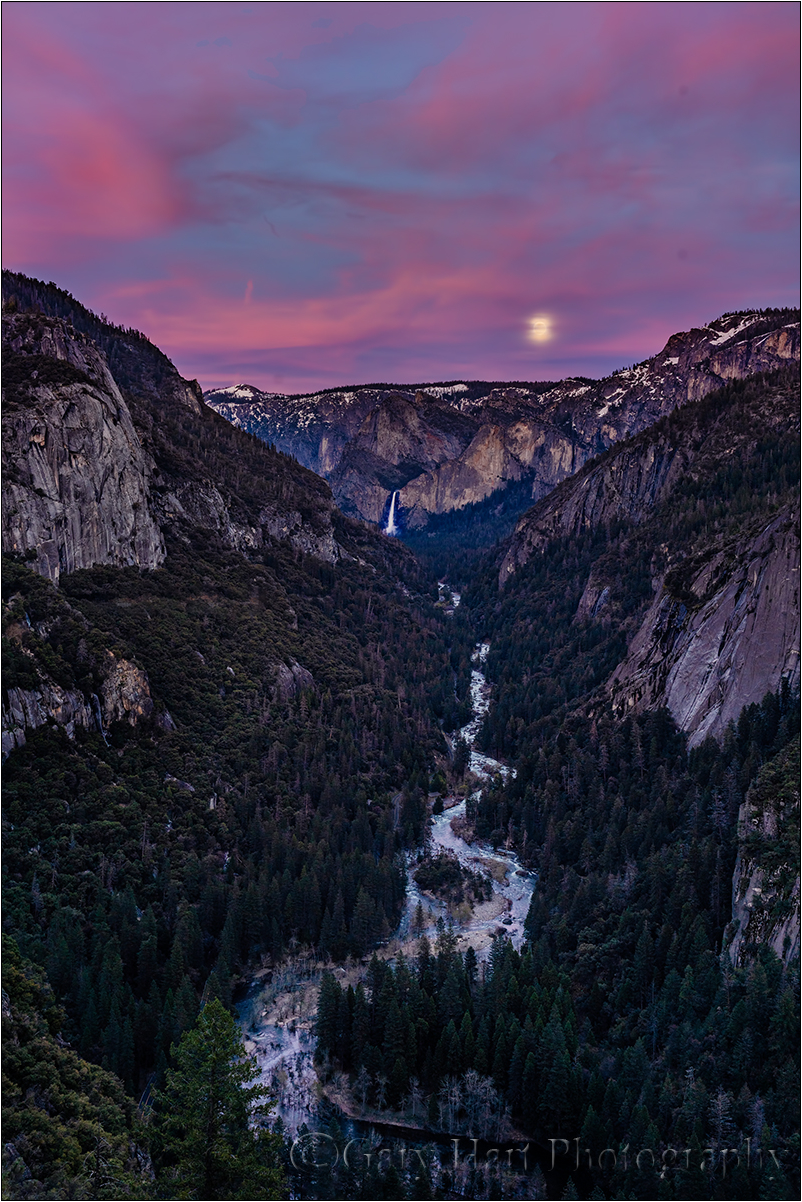 Moonrise, Bridalveil Fall, Yosemite