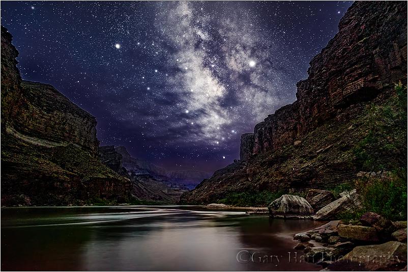 Dark Sky, Milky Way & Colorado River, Grand Canyon