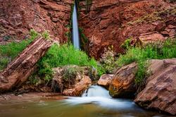 On the Rocks, Deer Creek Fall, Grand Canyon