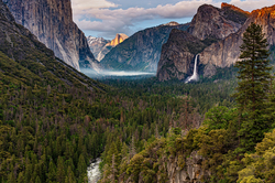 Last Light on Half Dome, Yosemite Valley