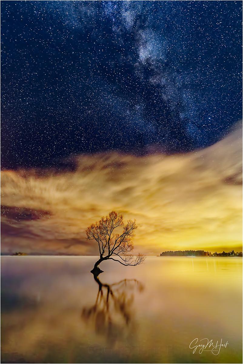 Skylight, The Milky Way & City Lights, Lake Wanaka