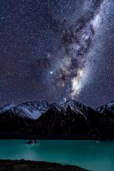 Winter Night, Milky Way Above Tasman Lake, NZ