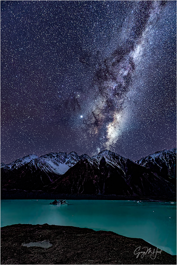 Winter Night, Milky Way Above Tasman Lake, NZ