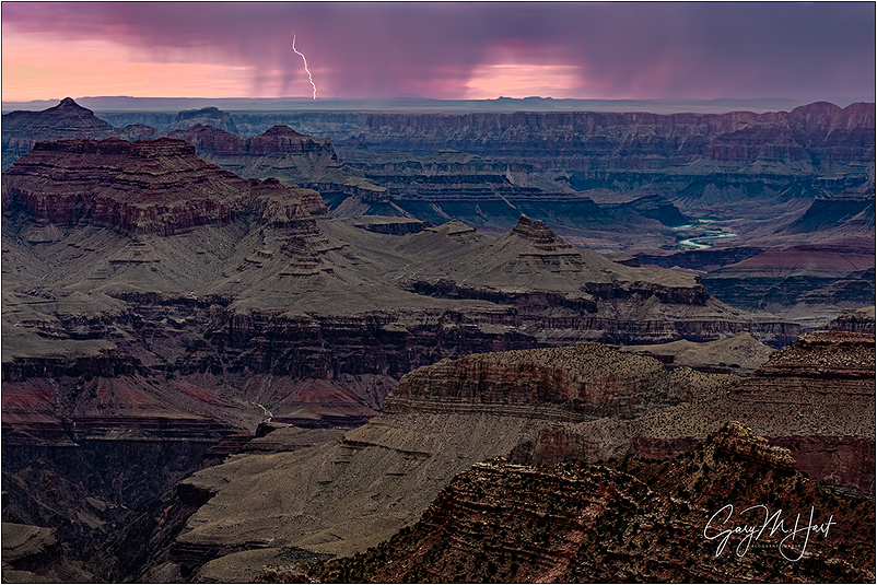 Bolt from the Pink, Grandview Point, Grand Canyon