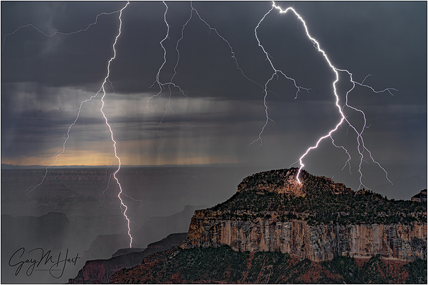 Lightning Explosion, Oza Butte, Grand Canyon