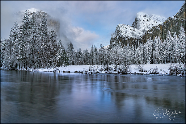 Winter Reflection, Valley View, Yosemite