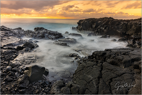 Golden Sunrise, Puna Coast, Hawaii Big Island