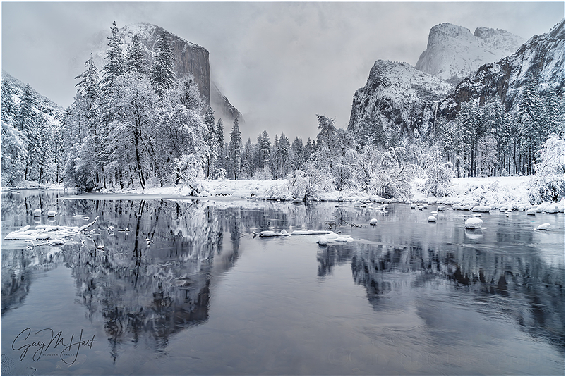 Winter Glaze, Valley View, Yosemite