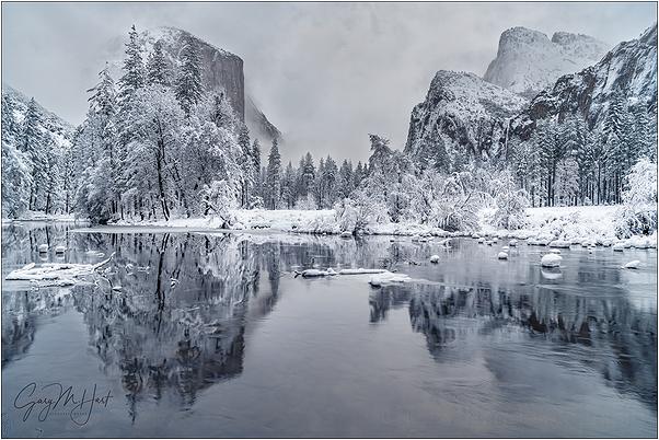 Winter Glaze, Valley View, Yosemite