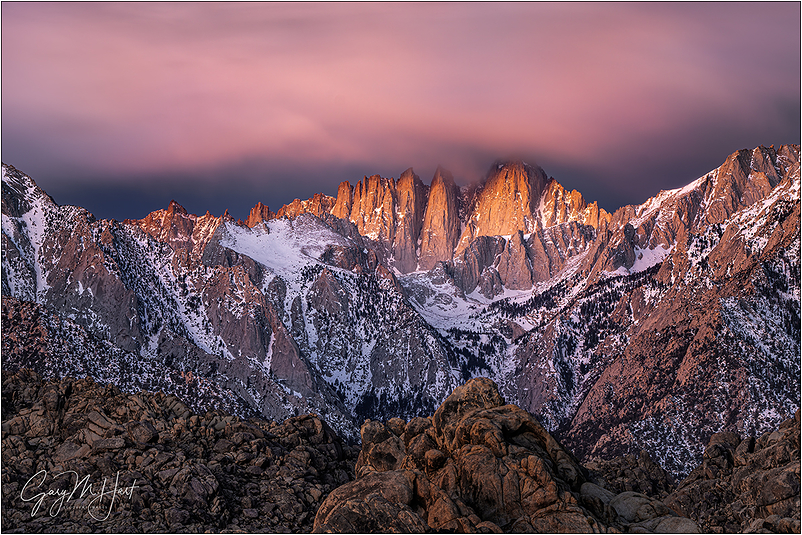 Dawn's Early Light, Mt. Whitney, California