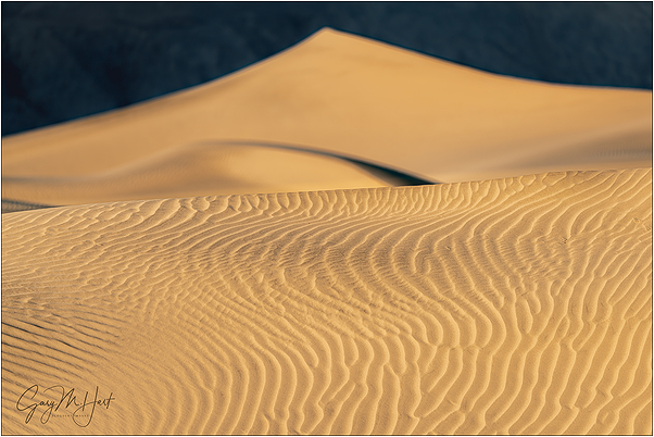 Dune Patterns, Mesquite Dunes, Death Valley