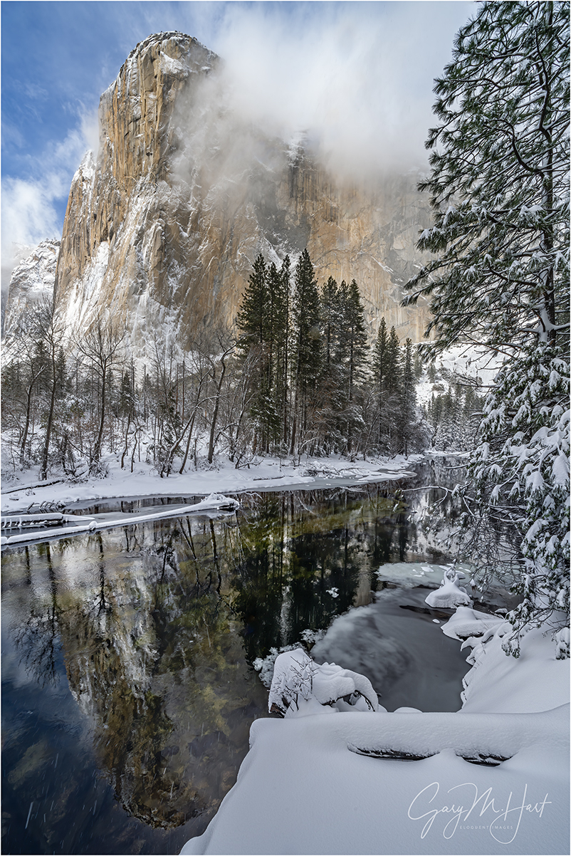 Winter Storm, El Capitan in the Snow, Yosemite