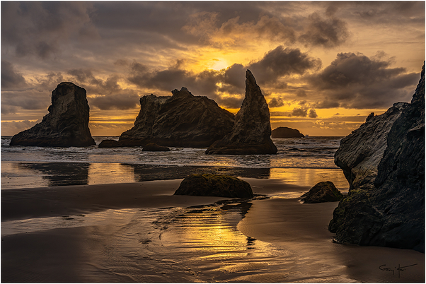 Howling Dog at Sunset, Bandon Beach, Oregon