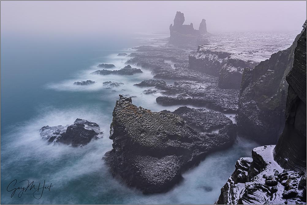 Winter Storm, Londrangar, Iceland