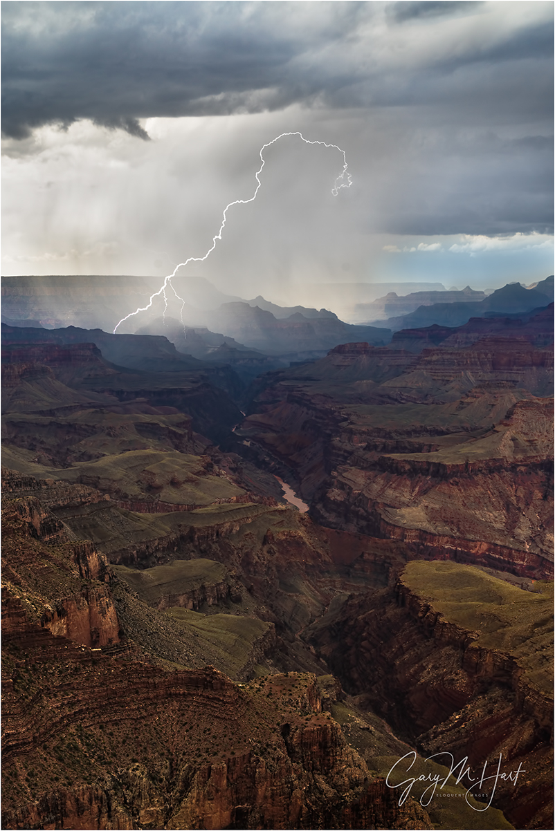 Diagonal Lightning Strike, Grand Canyon