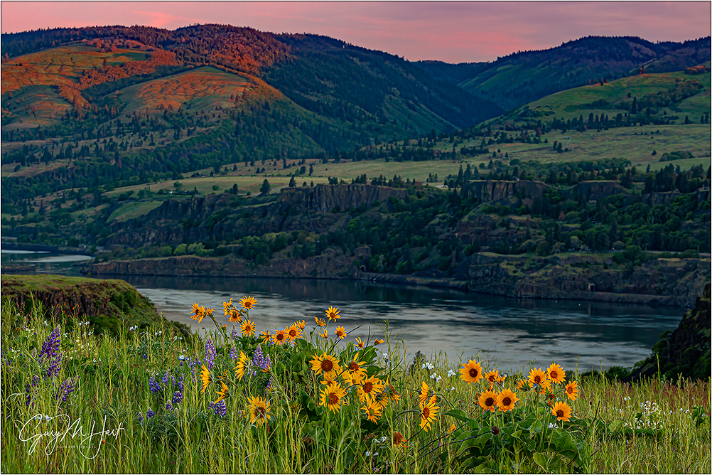 Spring Sunset, Rowena Crest, Columbia River Gorge