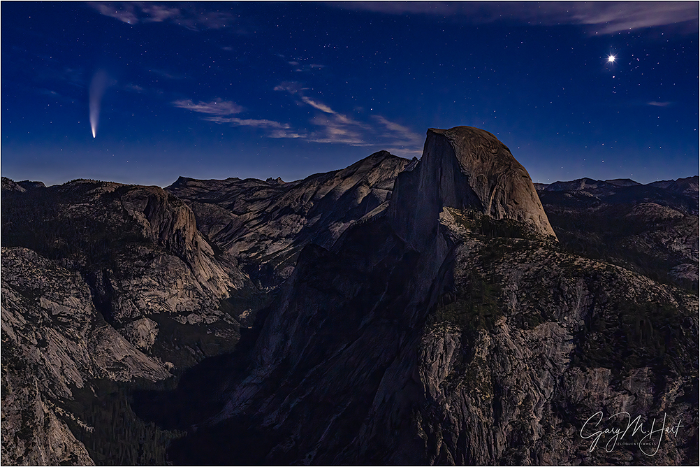 Dawn, Half Dome and Comet Neowise, Yosemite