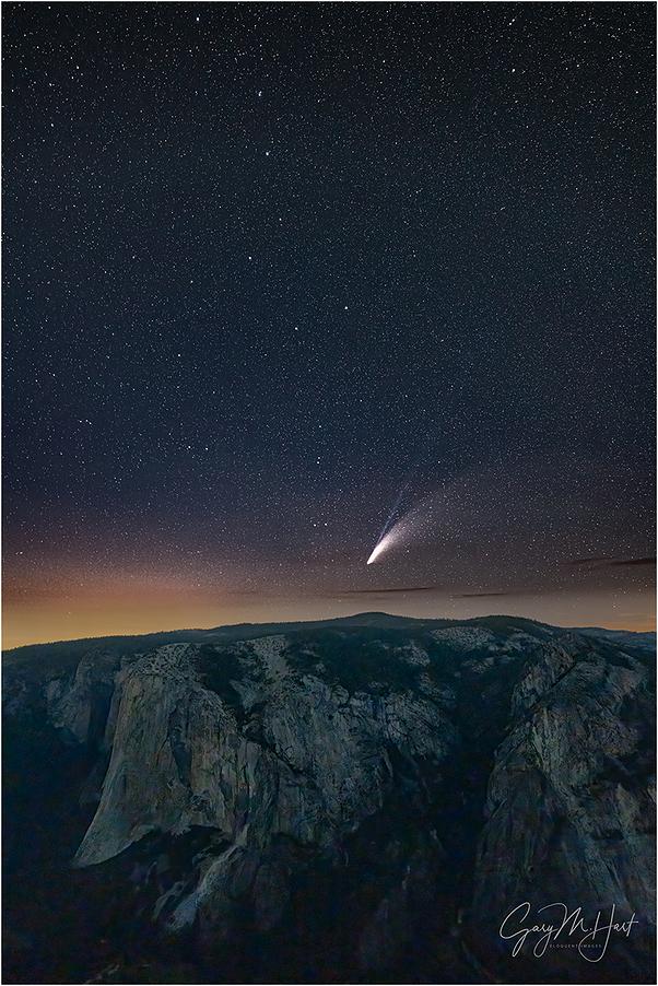 Comet NEOWISE Above El Capitan, Yosemite
