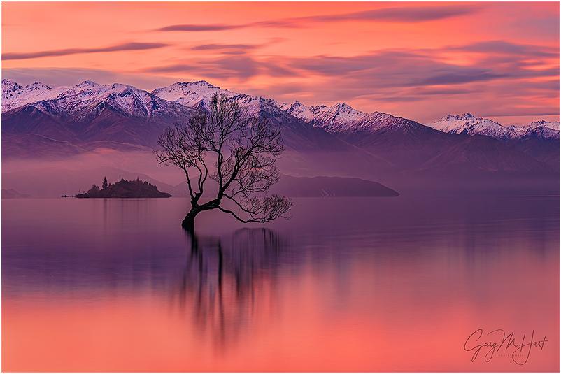 Red Sunset, Lake Wanaka, New Zealand