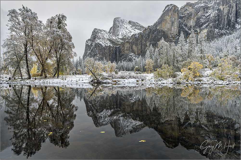 Fall Into Winter, Bridalveil Fall, Yosemite