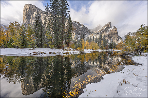 Autumn Snow, El Capitan & Three Brothers, Yosemite