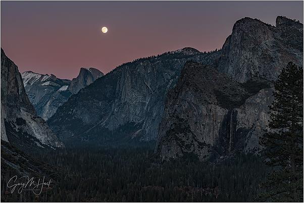 Twilight Moonrise, Half Dome, Yosemite