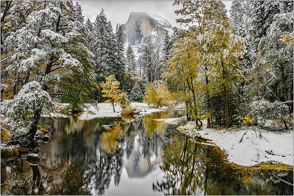 White Gold, Half Dome Reflection, Yosemite