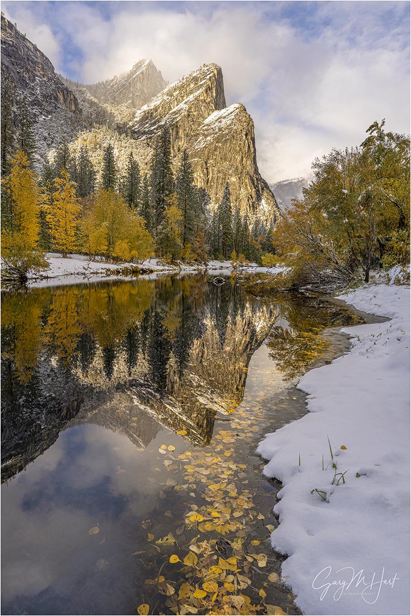 White Gold, Three Brothers Reflection, Yosemite