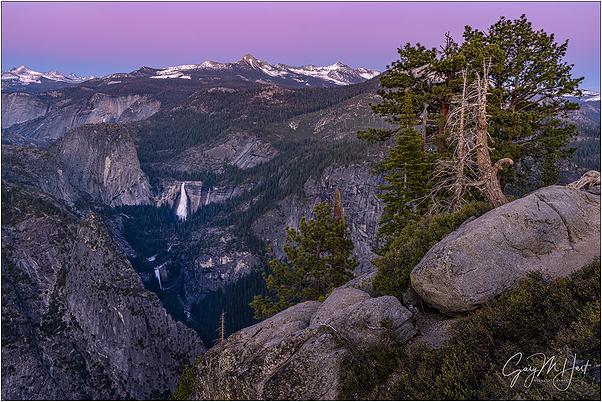 Alpenglow, Nevada and Vernal Falls, Yosemite