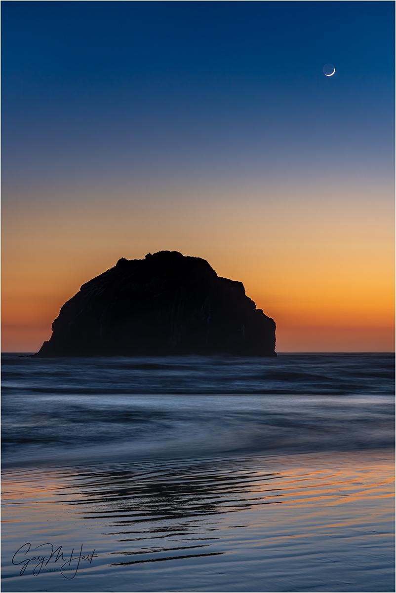 Moongazing, Face Rock, Bandon, Oregon