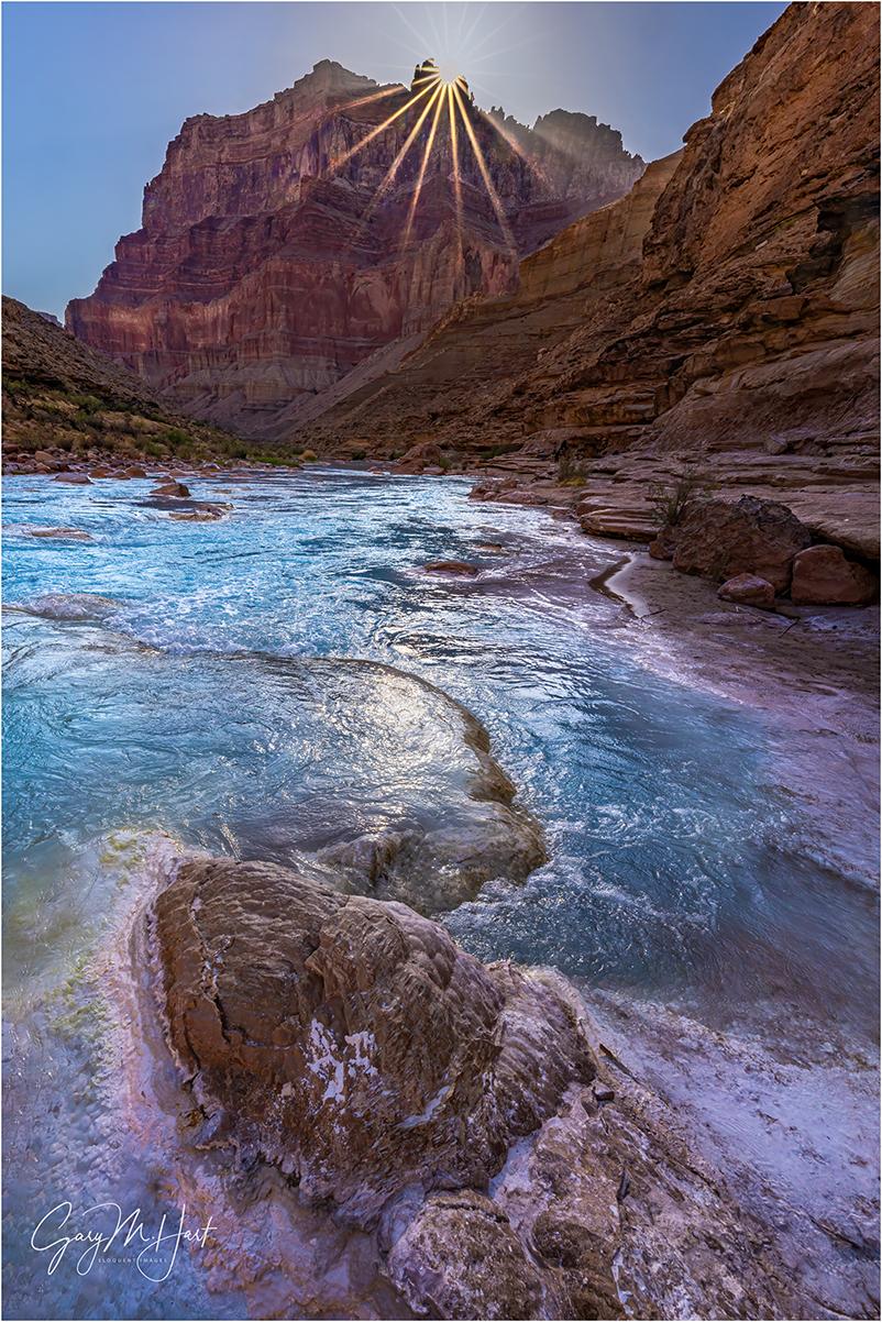 Sunstar, Little Colorado River, Grand Canyon