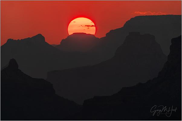 Smoky Sunset, Desert View, Grand Canyon