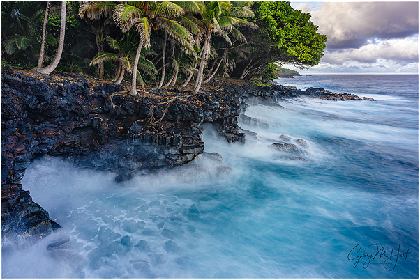 Surf on the Rocks, Puna Coast, Hawaii
