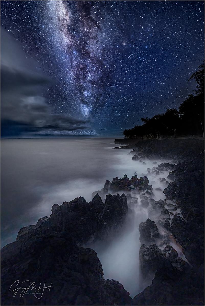 Dark Night, Milky Way Over the Puna Coast, Hawaii