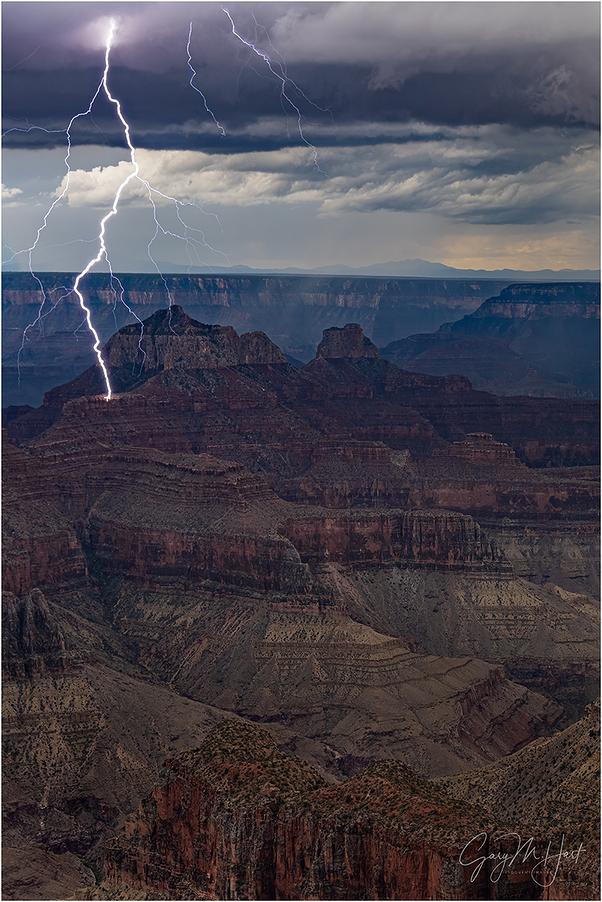Lightning Strike, Brahma Temple, Grand Canyon