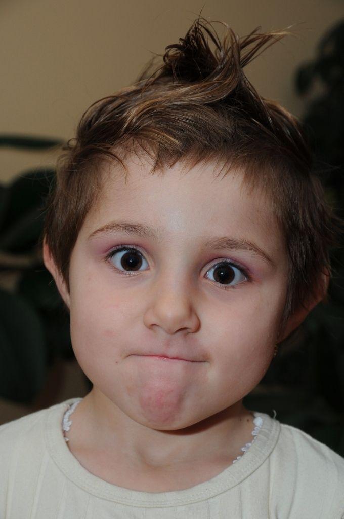 Cartoon baby face