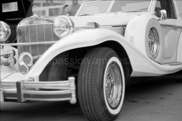 white car detail