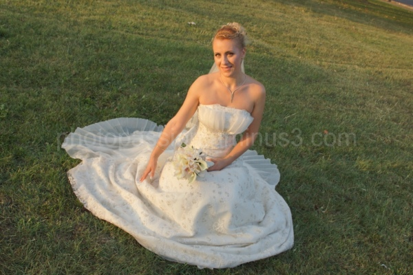 bride as a flower